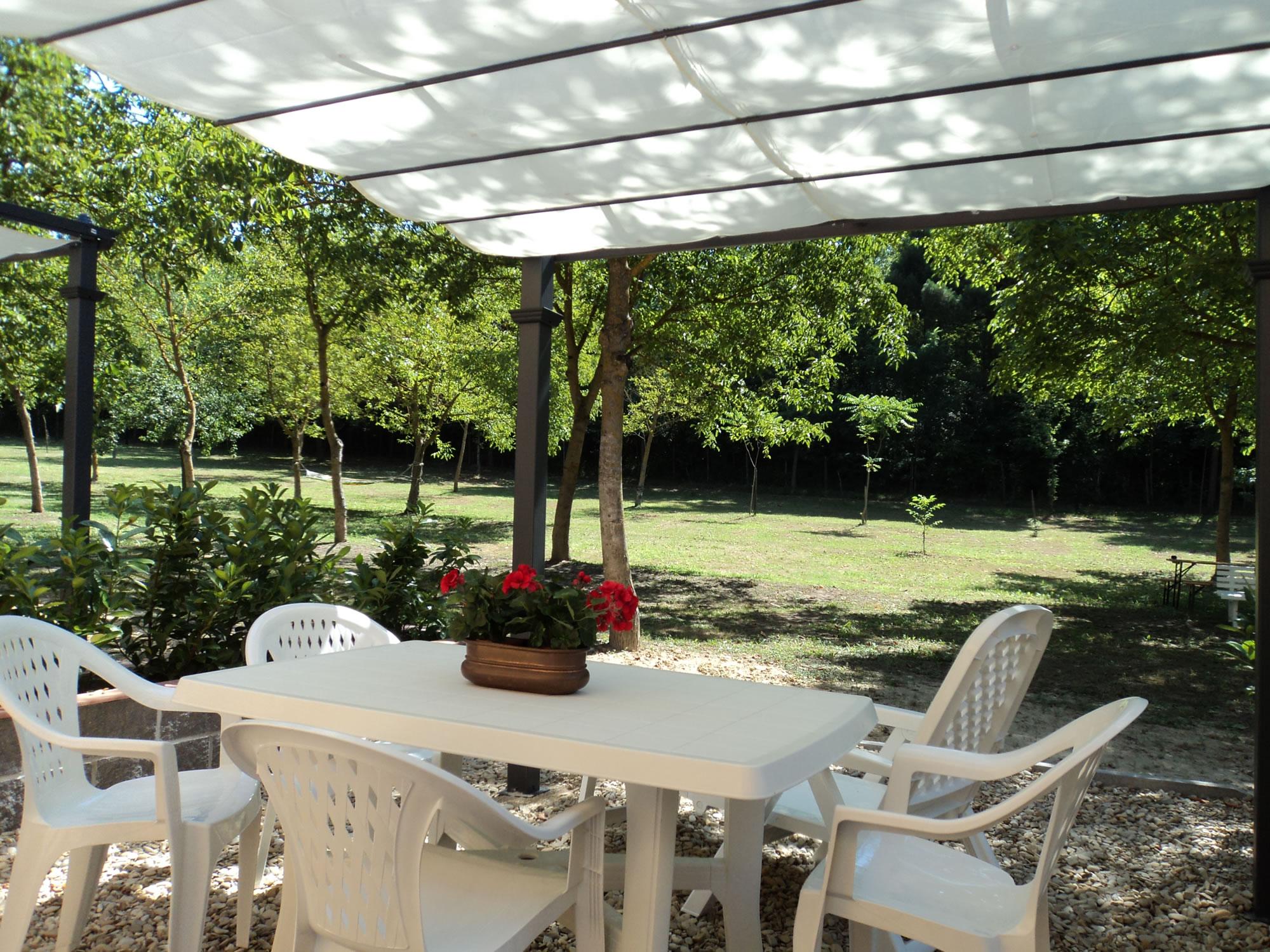 esterno-villette-a-schiera-vista-parco-di-noci-e-piscina-nel-Chianti - Copia